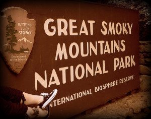 Sign For Great Smoky Mountains