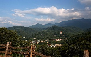 Overview of Gatlinburg with Park Vista in background