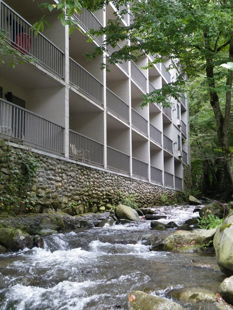 Balconies Over Mountain Stream at Sidney James Mountain Lodge